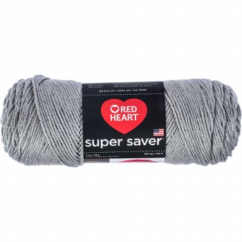 Red Heart Super Saver Yarn- Dusty Grey
