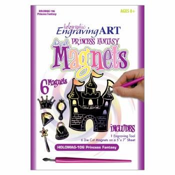 Engraving Art Magnets Set- Holographic Princess Fantasy