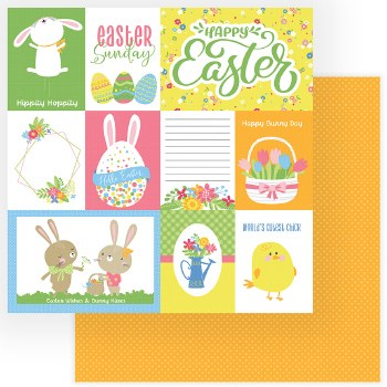 Easter Wishes 12x12 Paper- Happy Easter