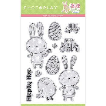 Easter Wishes Stamp/Dies- Clear Stamps