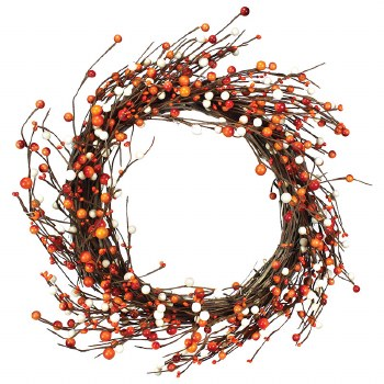 "Fall Wreath, 18""- Grapevine Berries"