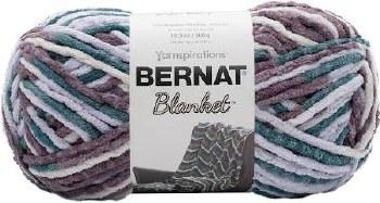 Bernat Blanket Yarn- Variegated- Elderberry