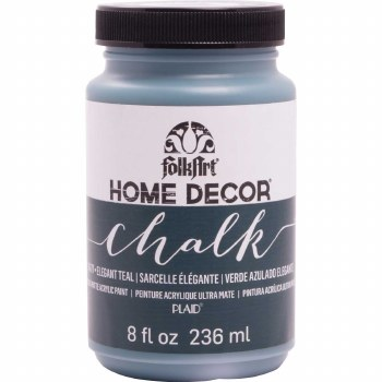 FolkArt Home Decor Chalk Paint 8 oz- Elegant Teal