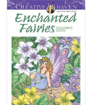 Creative Haven Adult Coloring Book- Enchanted Fairies