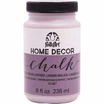 FolkArt Home Decor Chalk Paint 8 oz- English Lavender