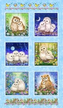 Animals Fabric Panel- Epic Owls