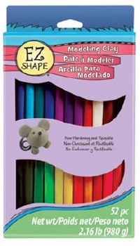 EZ Shape Modeling Clay, 52pc