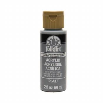 FolkArt 2 Oz. Acrylic Paint- Classic French Gray