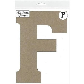 "8"" Chipboard Letter- F"