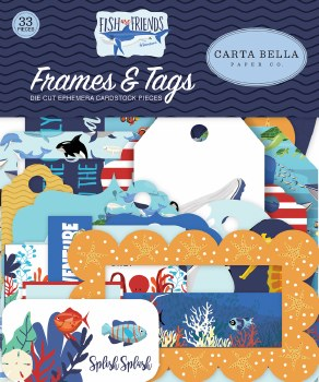 Fish are Friends Ephemera Die Cuts- Frames & Tags