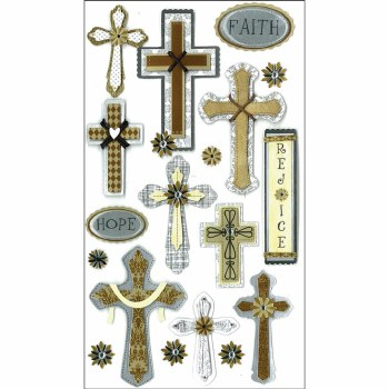 Jolee's Faith Dimensional Stickers, Large- Faith, Hope, & Rejoice