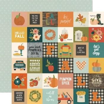 Fall Farmhouse 12x12 Paper- 2x2 Elements