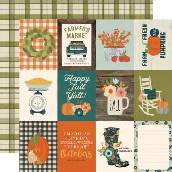 Fall Farmhouse 12x12 Paper- 3x4 Elements