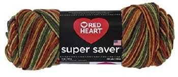 Red Heart Super Saver Yarn, Mulit-Color- Fall