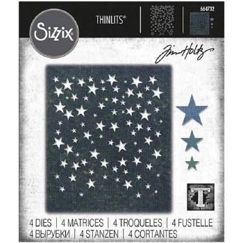 Tim Holtz Thinlits Dies- Falling Stars Background