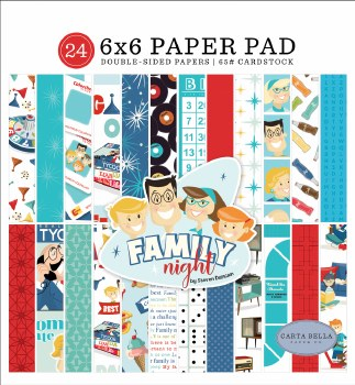 Family Night 6x6 Paper Pad