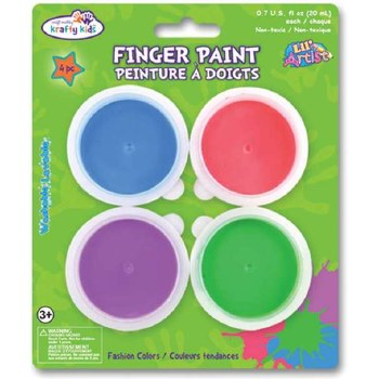 Finger Paint Pots, 4ct- Fashion