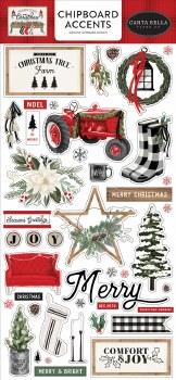 Farmhouse Christmas Chipboard Accents