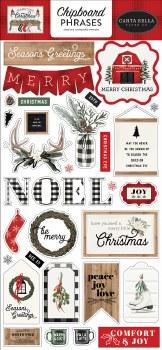 Farmhouse Christmas Chipboard Phrases
