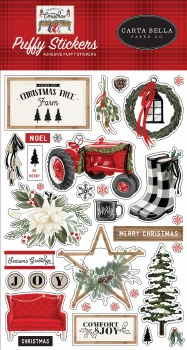 Farmhouse Christmas Stickers- Puffy