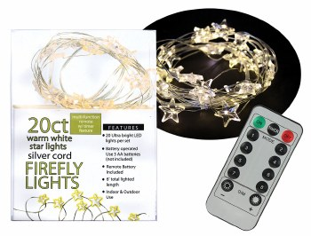20ct Star Firefly Lights- Warm White