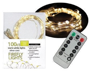 100ct Firefly Lights w/ Remote- Warm White