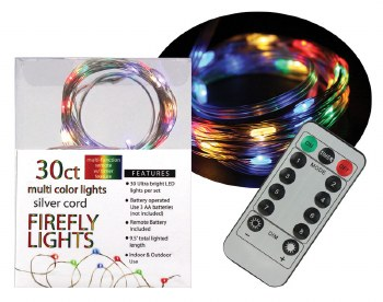 30ct Firefly Lights w/ Remote- Multi Colored