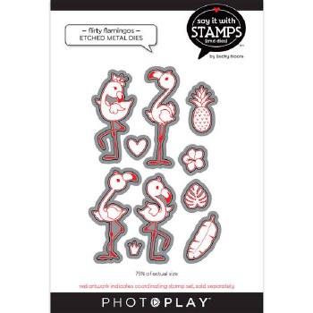 Say It in Stamps Flirty Flamingos Metal Dies
