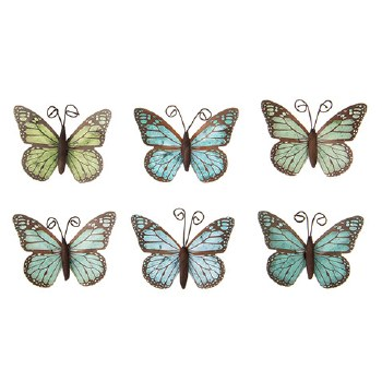 Butterfly Embellishments, 6ct- Blue/Green