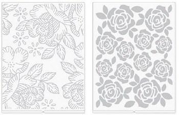 We R Memory Keepers Revolution Embossing Folders, 2pk- Florals