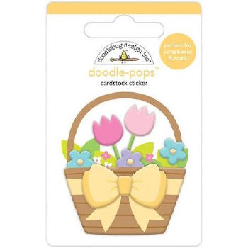 Hoppy Easter Doodle-Pops- Flower Basket