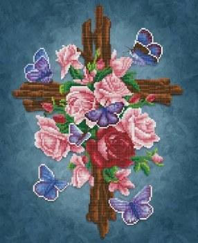 Diamond Facet Art Kit- Flower Cross