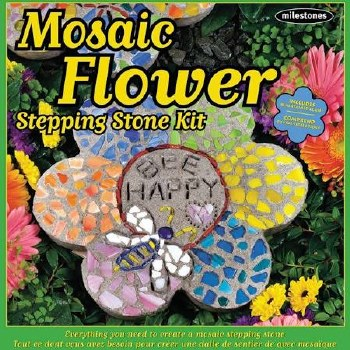 Stepping Stone Kit- Mosaic Flower