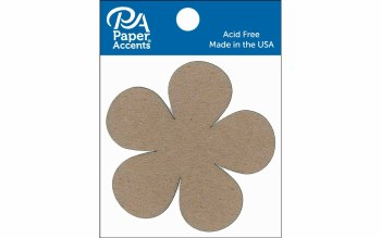Paper Accents Chipboard- Flower Power 8ct