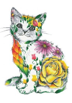 Diamond Facet Art Kit- Flower Puss