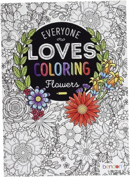 Adult Coloring Book - Everyone Loves Coloring Flowers