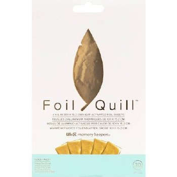 "Foil Quill Heart Activated Foil 30pk, 4""x6""- Gold"