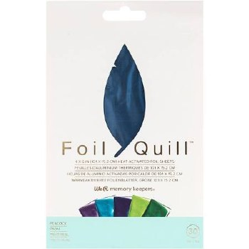 """Foil Quill Heart Activated Foil 30pk, 4""""x6""""- Peacock"""