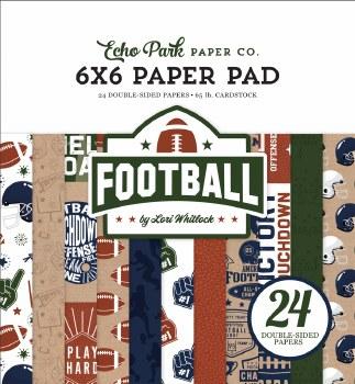 Football 6x6 Paper Pad