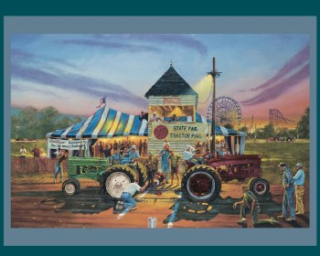 Farm & Country Fabric Panel- For Top Honors