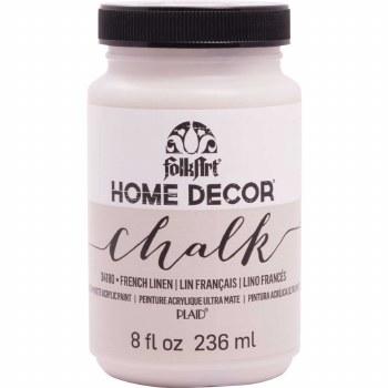 FolkArt Home Decor Chalk Paint 8 oz- French Linen