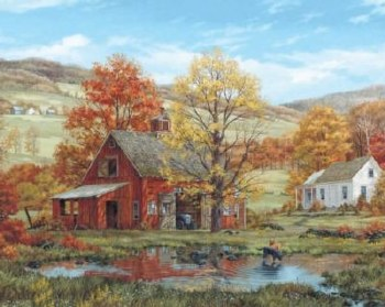 Friends in Autumn - 1,000 Piece Puzzle