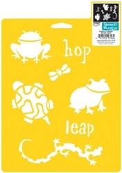 Stencil Mania 7x10 Stencil- Frogs & Friends