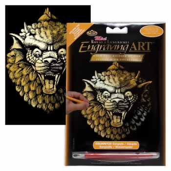 Engraving Art Foil Set- Gold Gargoyle