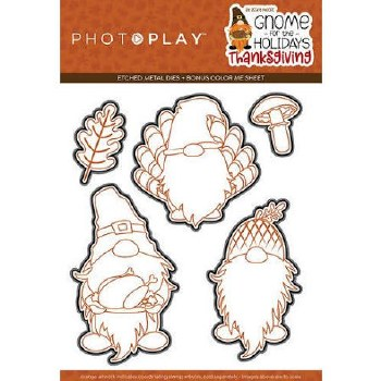 Gnome for Thanksgiving Stamps/Dies- Metal Dies