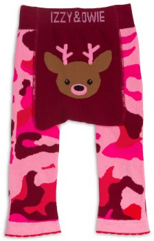 Baby Leggings, Camo Deer Pink- 12-24m