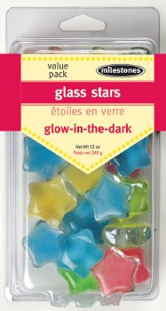 Stepping Stones Accessories- Glow In The Dark Glass Stars