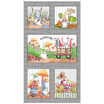 Fabric Panel- Gnomesville