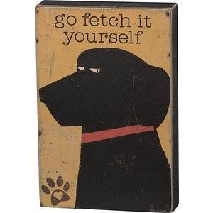 Wood Box Sign, Spunky Pets- Go Fetch