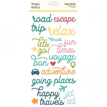 Going Places Stickers- Foam Travel Words